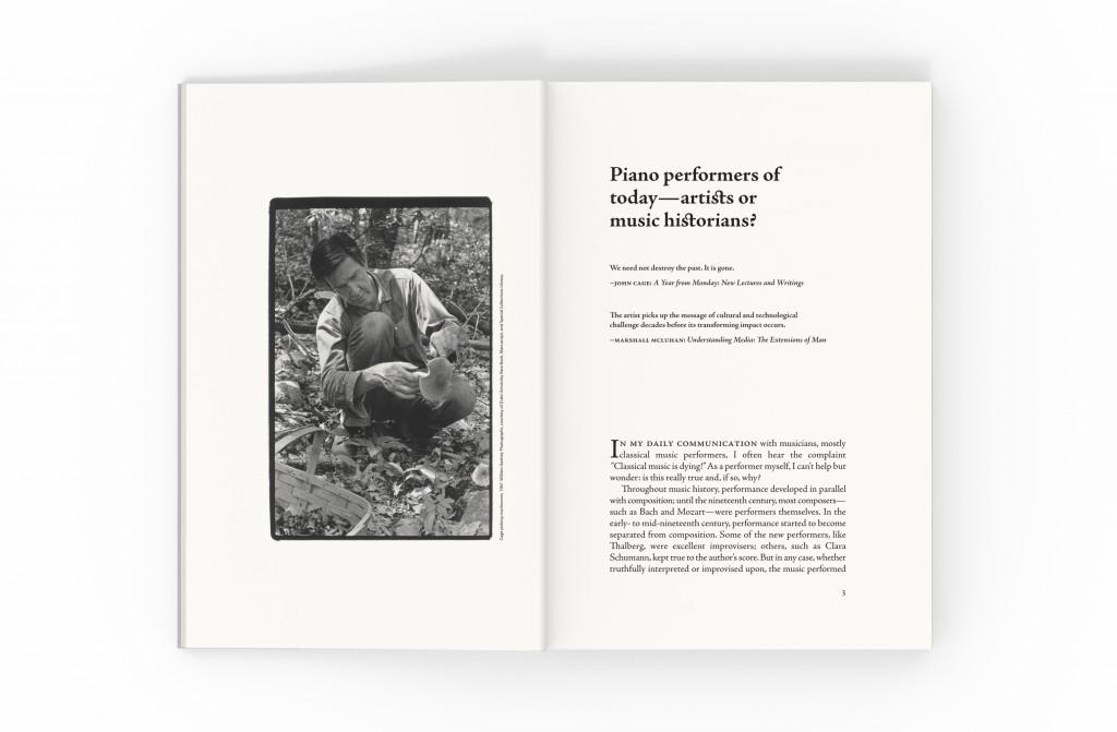 John Cage's Prepared Piano sample chapter spread