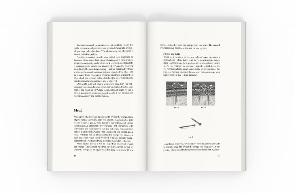 John Cage's Prepared Piano sample spread with illustrations