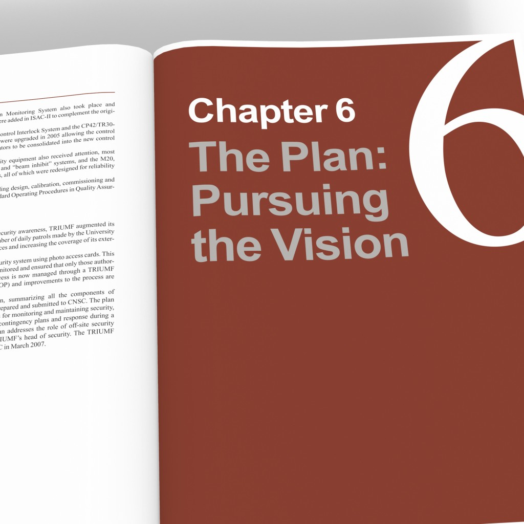 TRIUMF sample chapter title spread