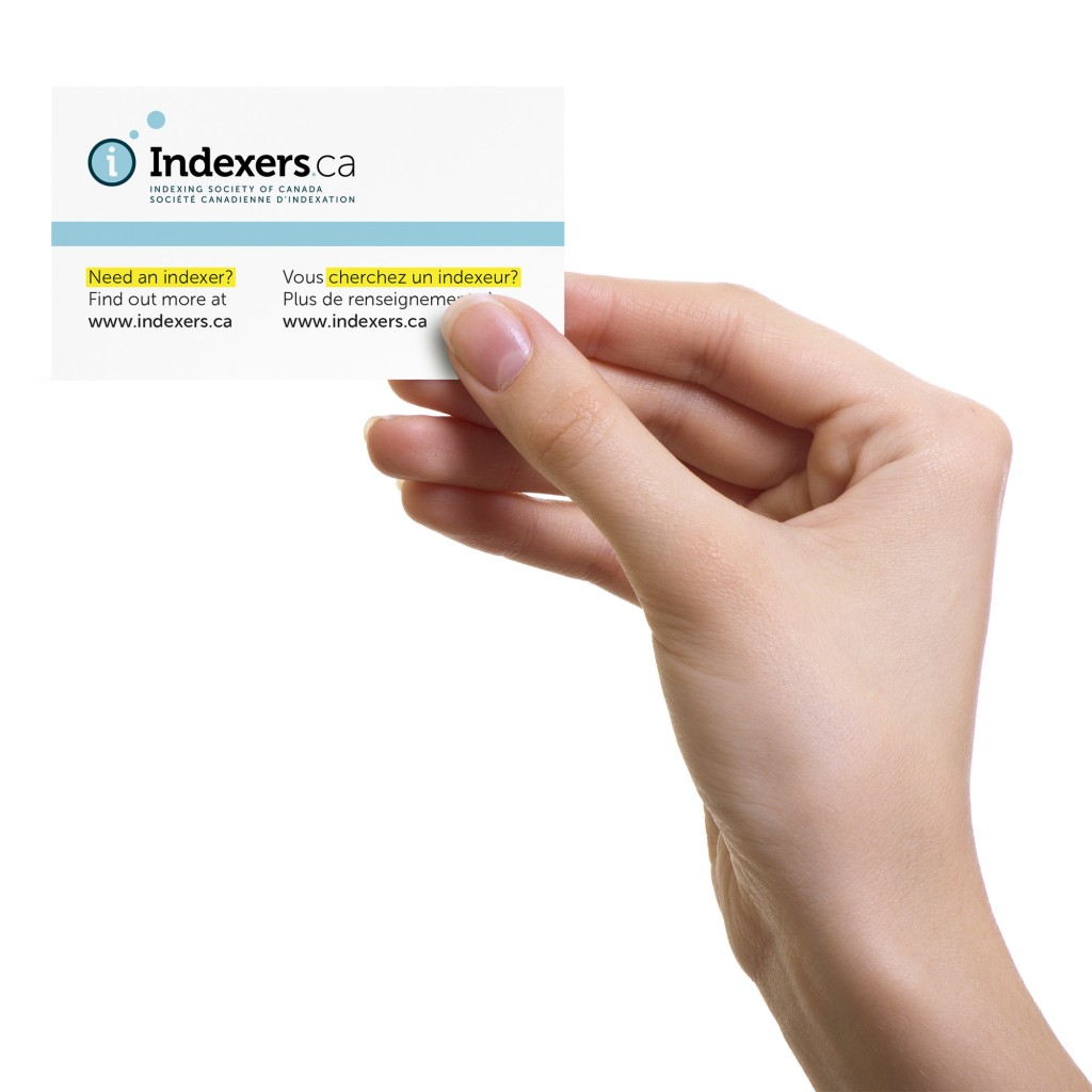 Indexers 2013 conference business card