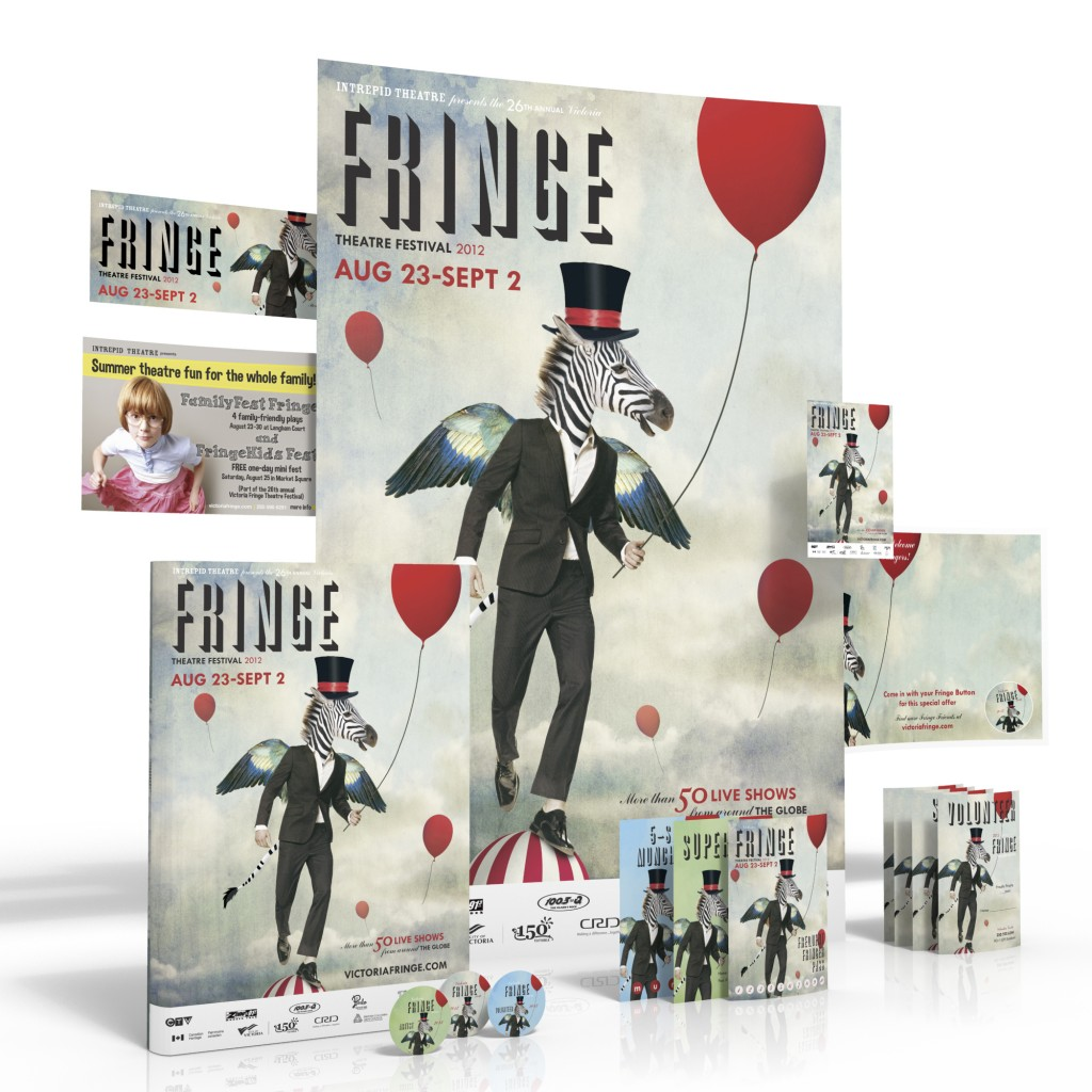 Victoria Fringe Theatre Festival 2012 promotional items