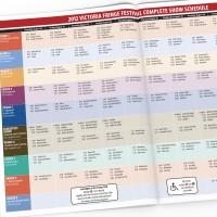 Victoria Fringe Theatre Festival 2012 program spread with schedule