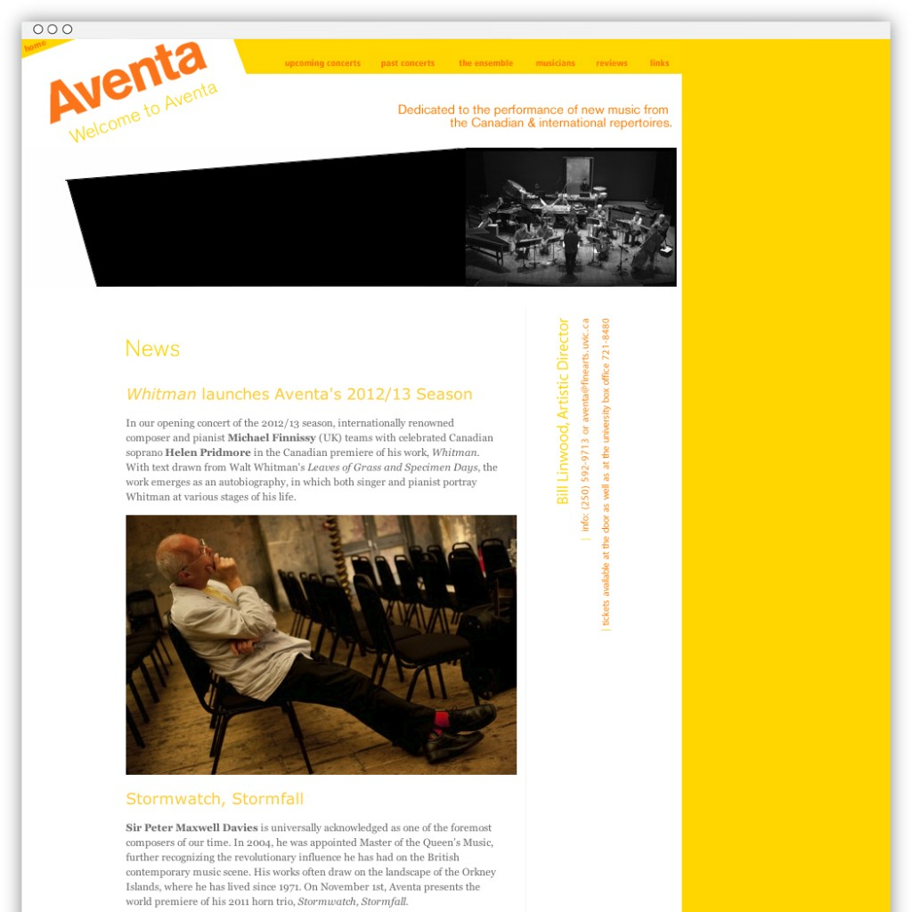 Aventa Ensemble homepage