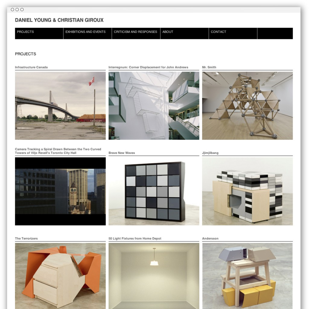Christian Giroux & Daniel Young homepage
