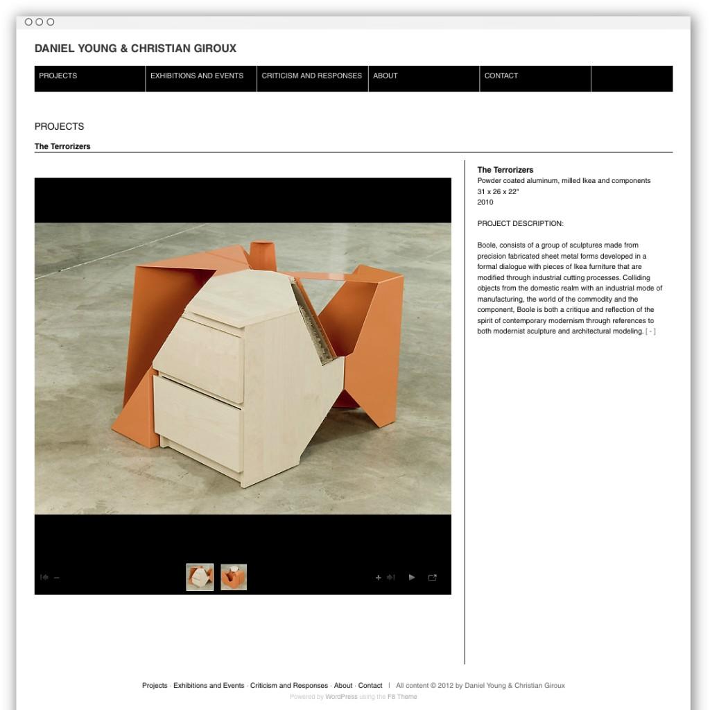 Christian Giroux & Daniel Young project detail webpage