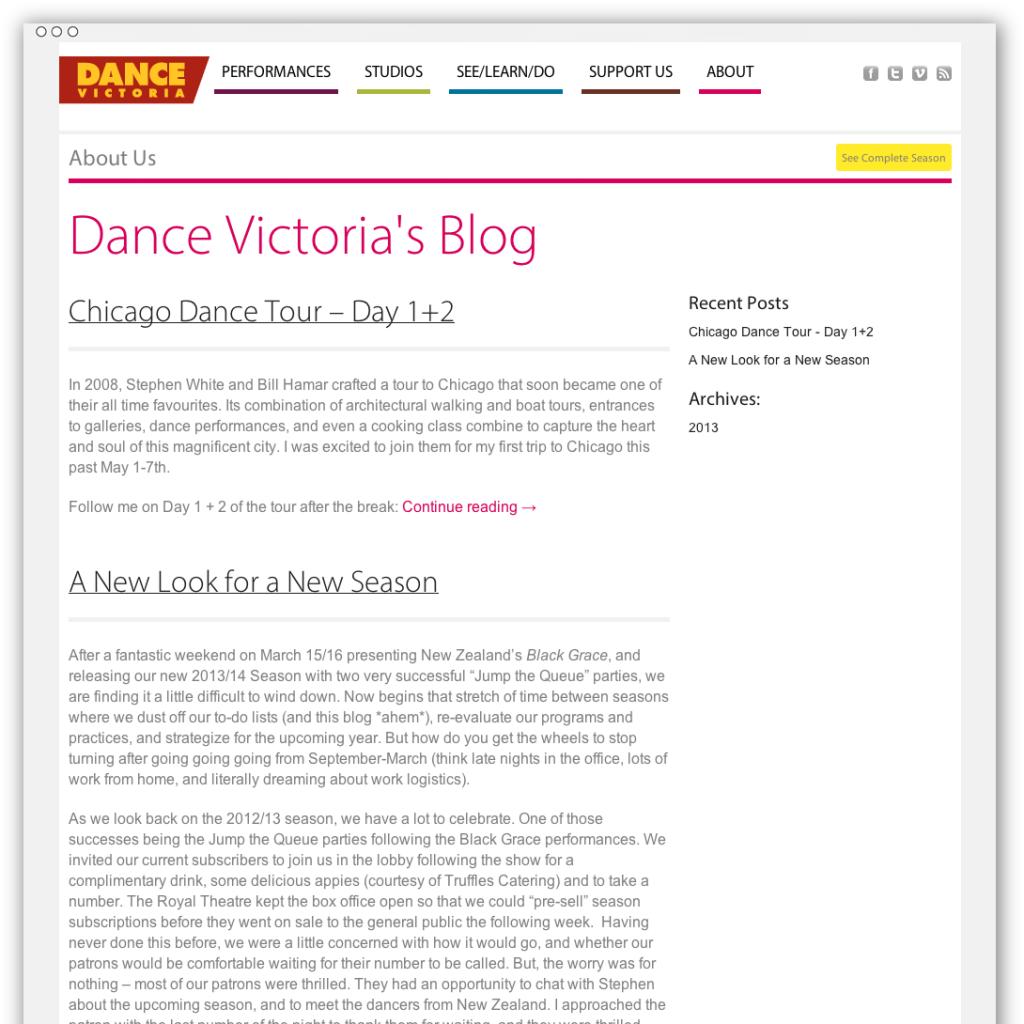Dance Victoria blog