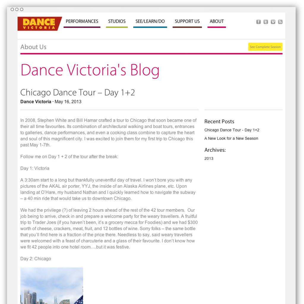 Dance Victoria blog post