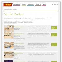Dance Victoria studios rentals webpage