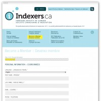 Indexers membership form webpage
