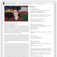 Jessica Stockholder biography webpage