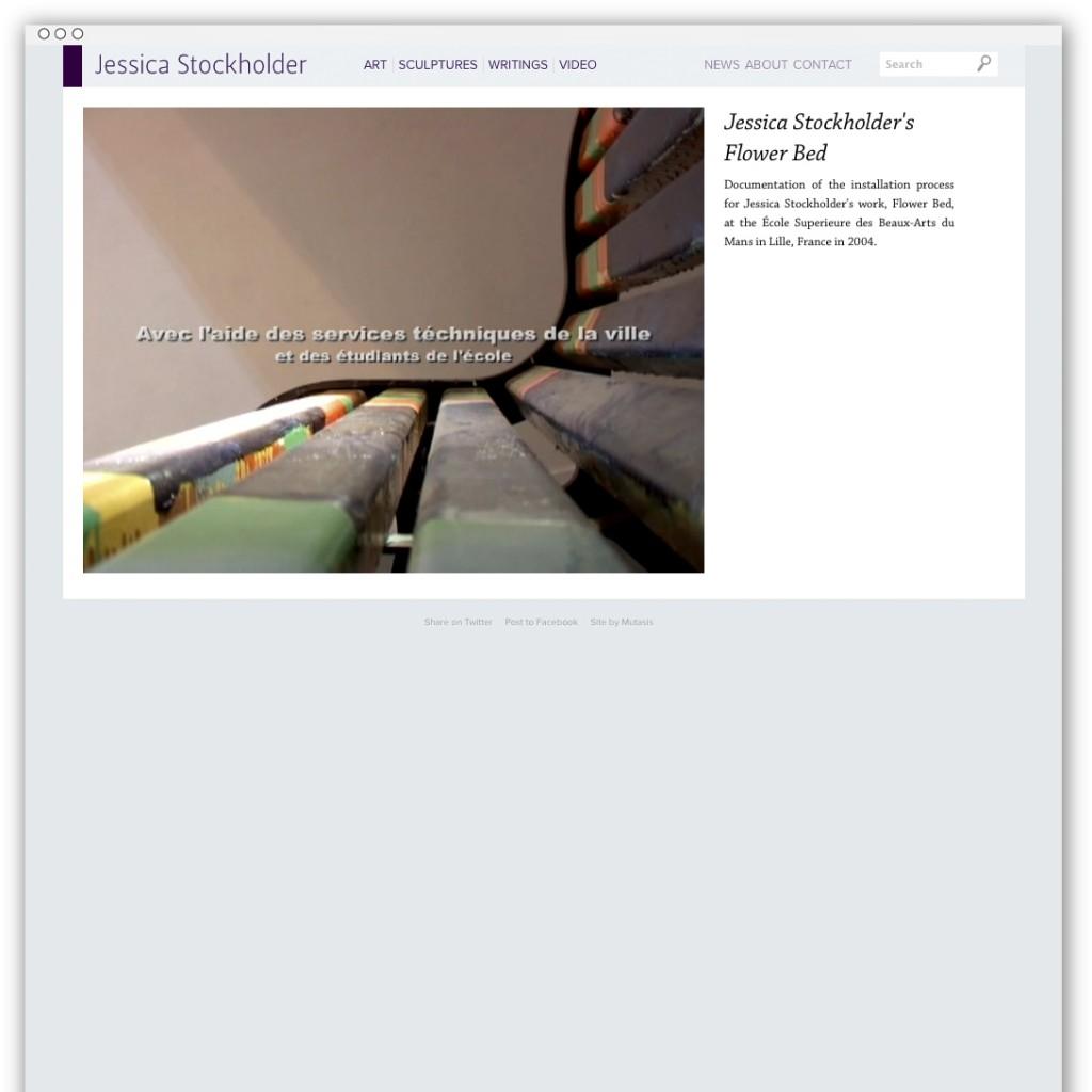 Jessica Stockholder video detail webpage