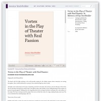 Jessica Stockholder writings detail webpage