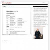 Mowry Baden bio webpage