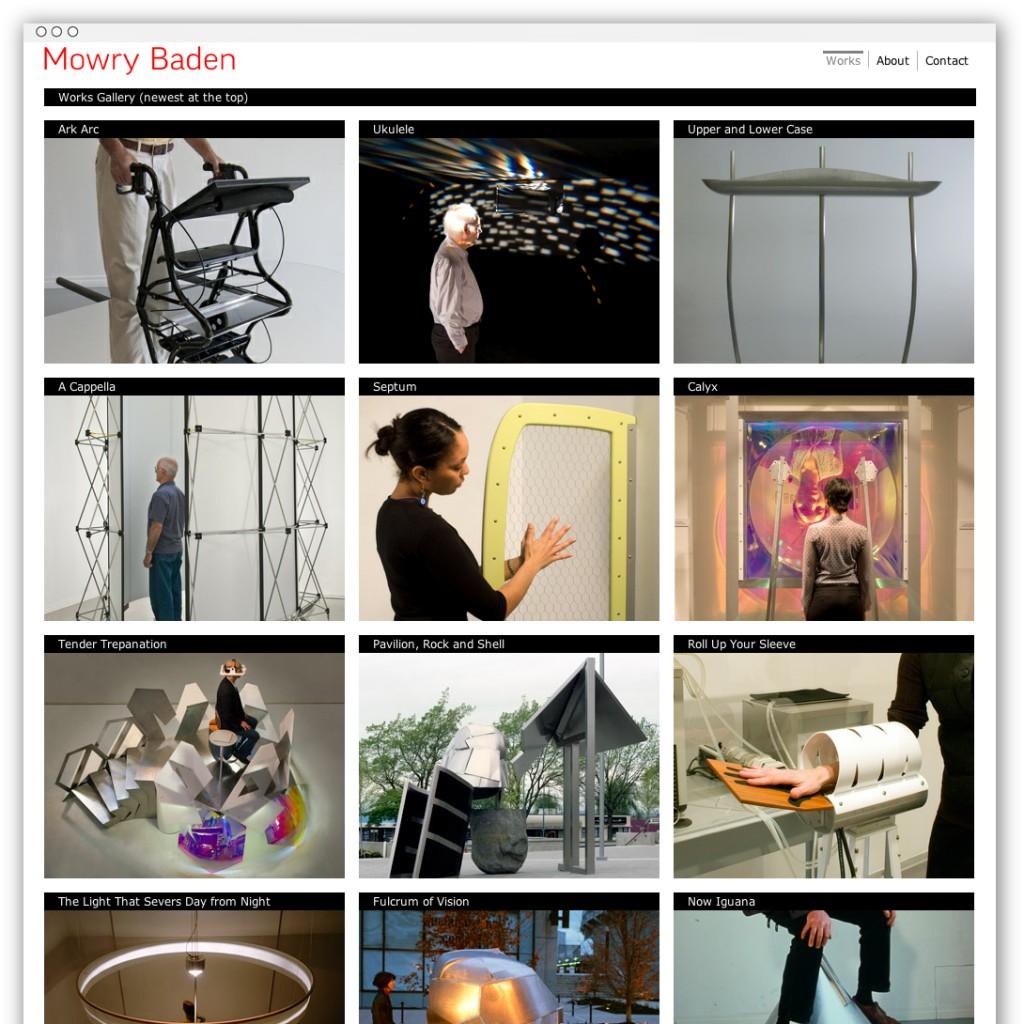 Mowry Baden homepage