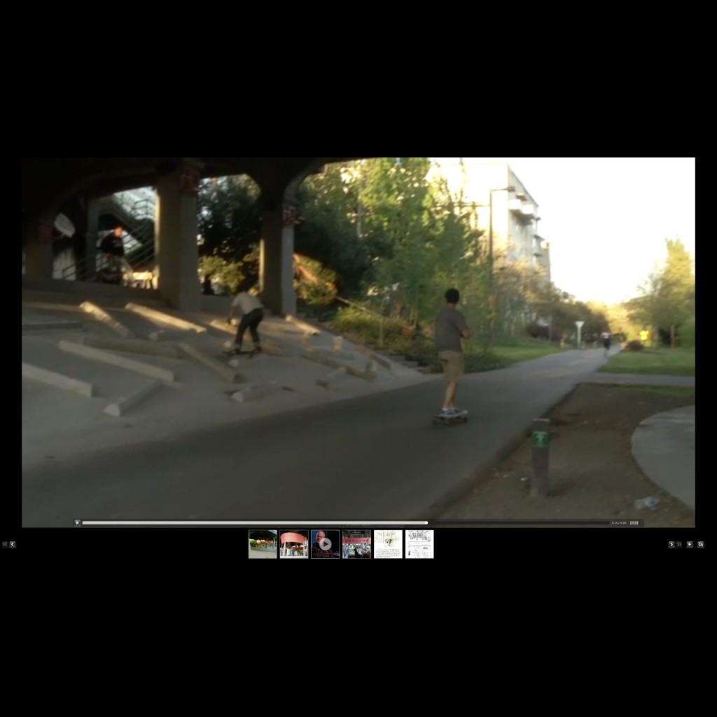 Mowry Baden works webpage with fullscreen video