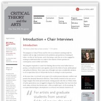 Critical Theory and the Arts homepage