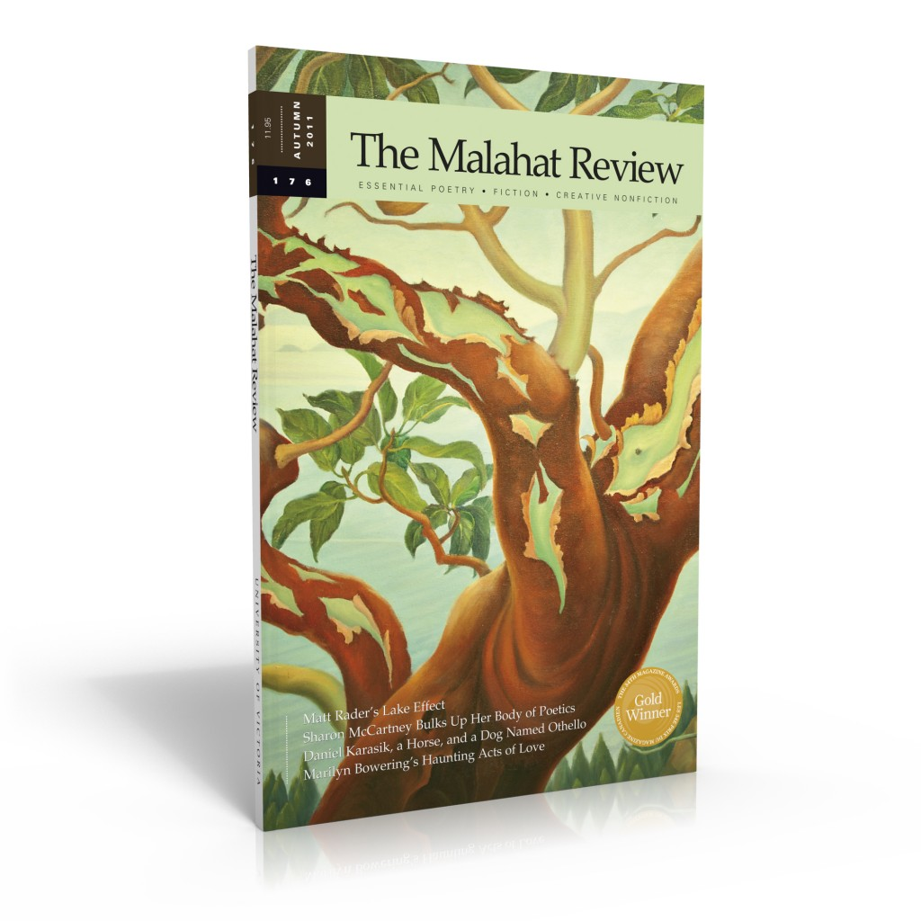 The Malahat Review cover, issue 176 (Autumn 2011)