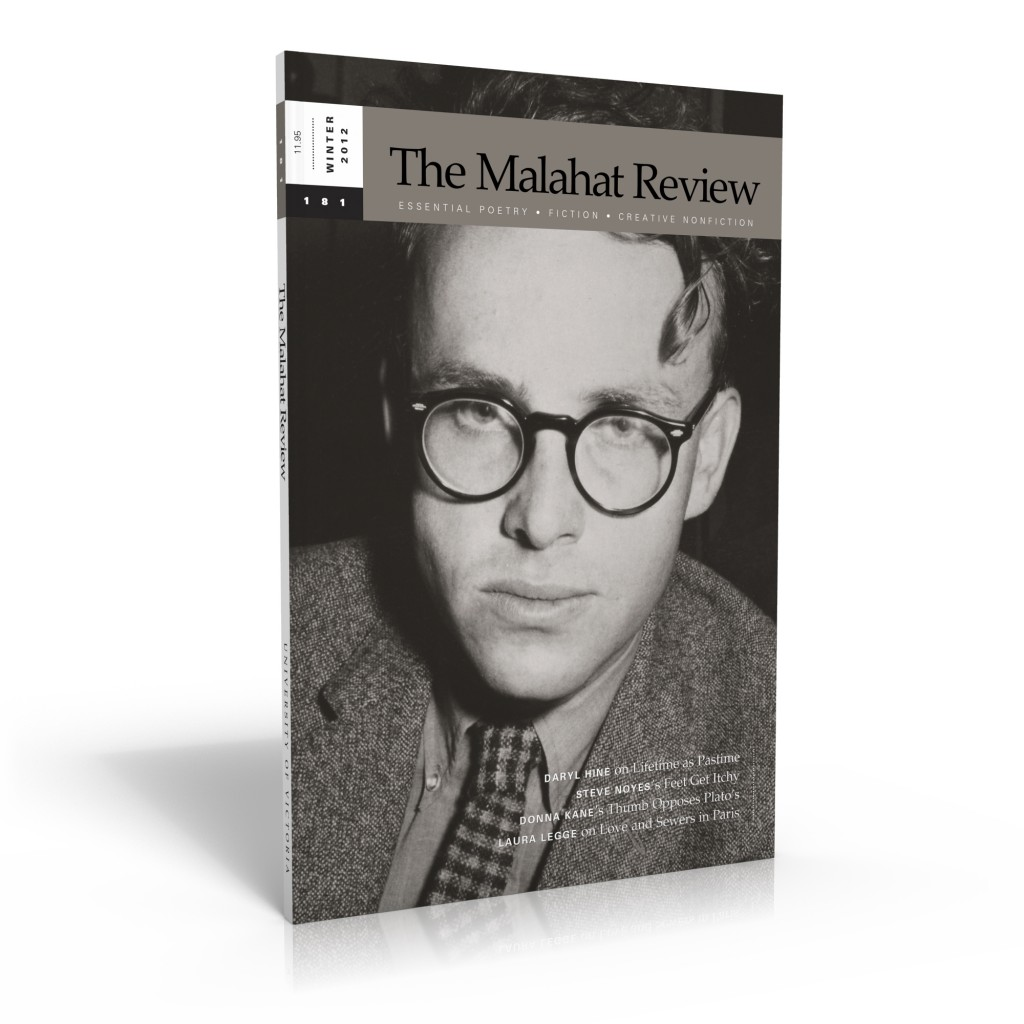 The Malahat Review cover, issue 181 (Winter 2012)