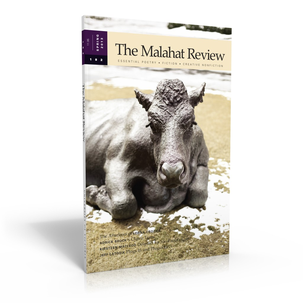 The Malahat Review cover, issue 182 (Spring 2013), with photography by Jessy Pesce