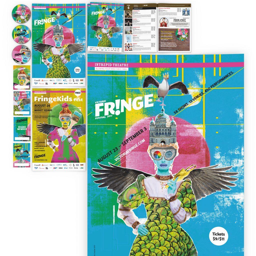 Victoria Fringe Festival 2017 promotional items